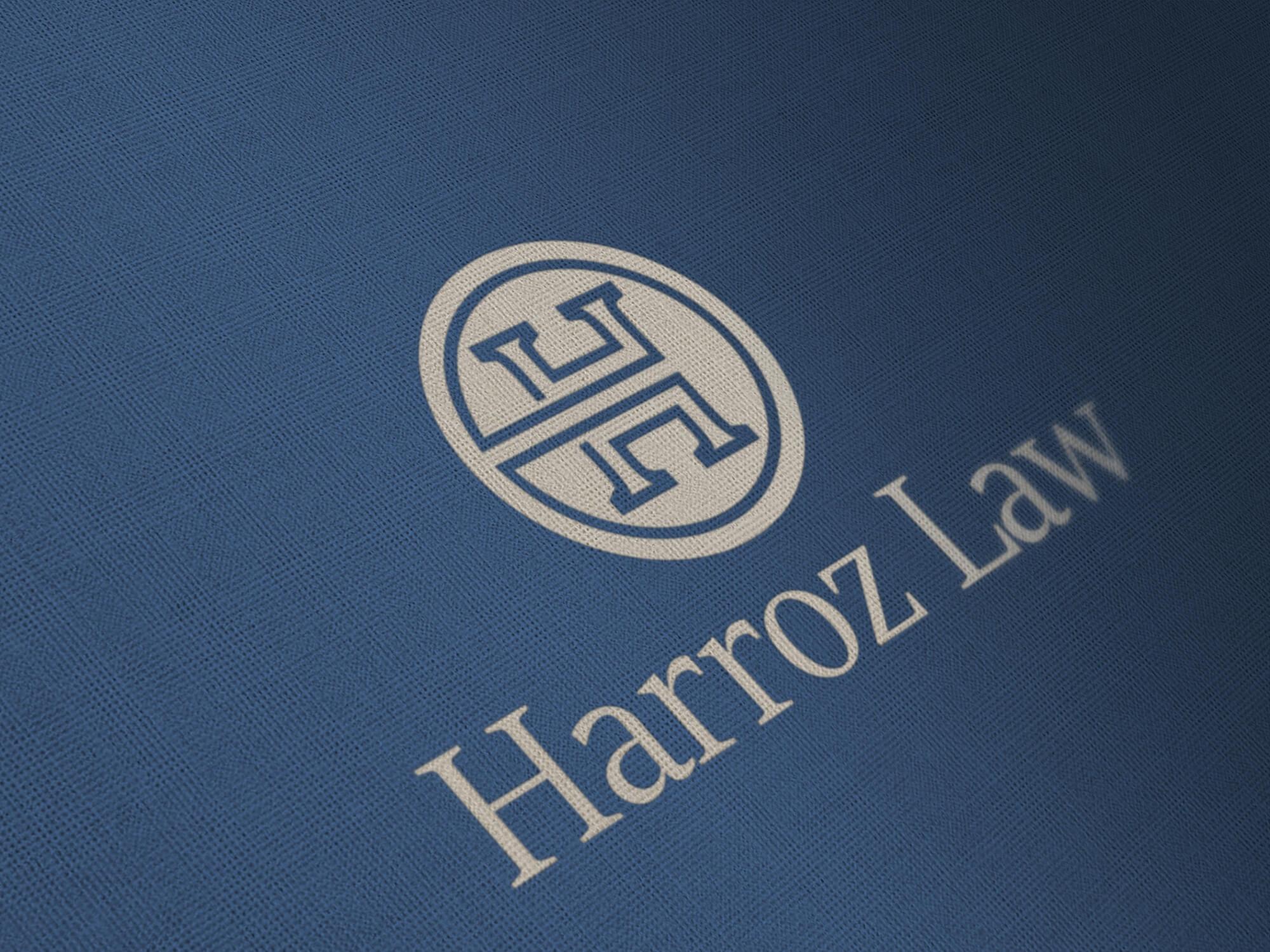 harroz law logo mockup