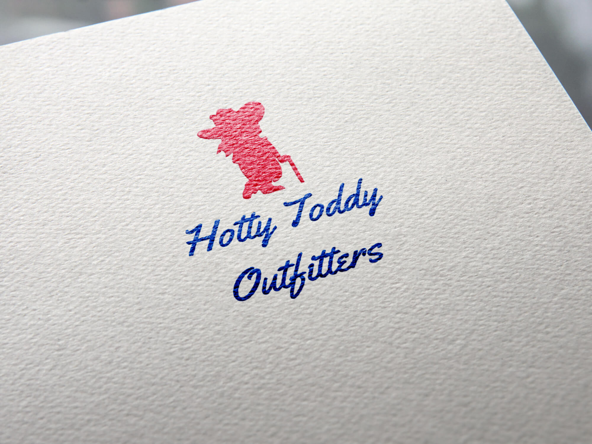 Mockup of Hotty Toddy Outfitters Logo