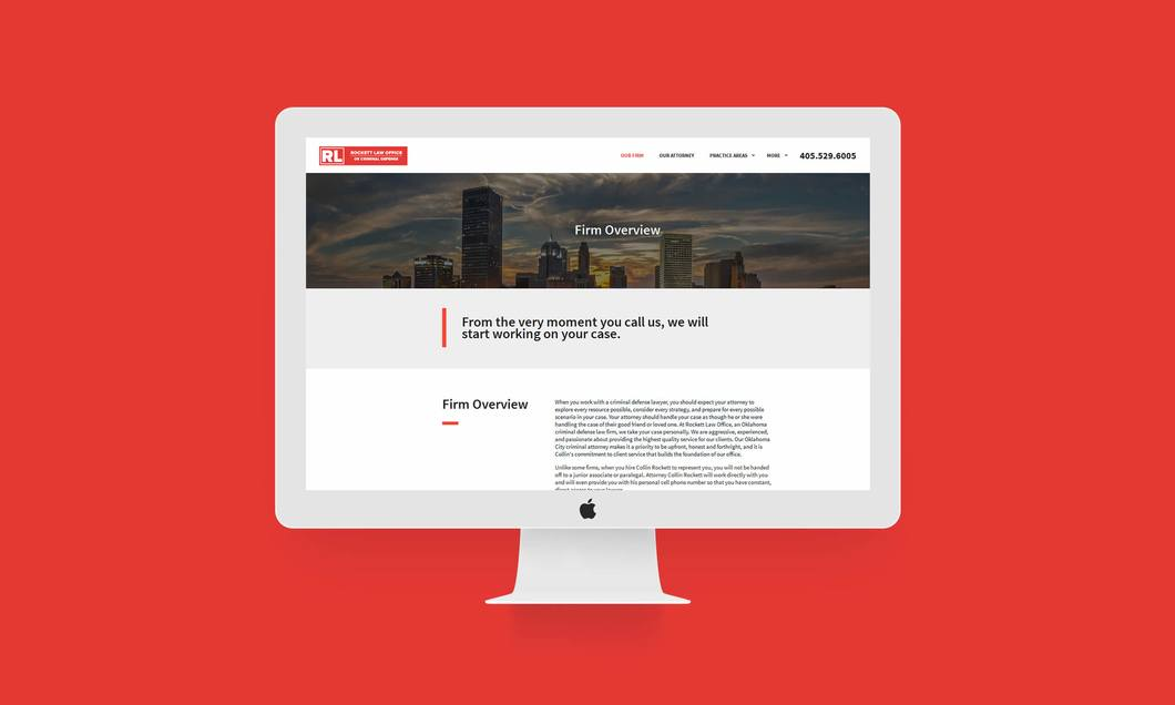 tyler, texas lawyer website design