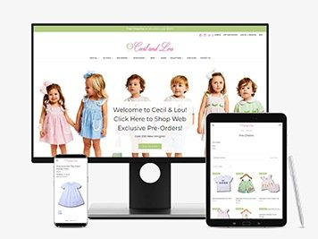Cecil and Lou eCommerce Website Design Tyler, TX