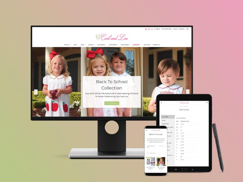 Cecil and Lou Website Design by Bailes + Zindler