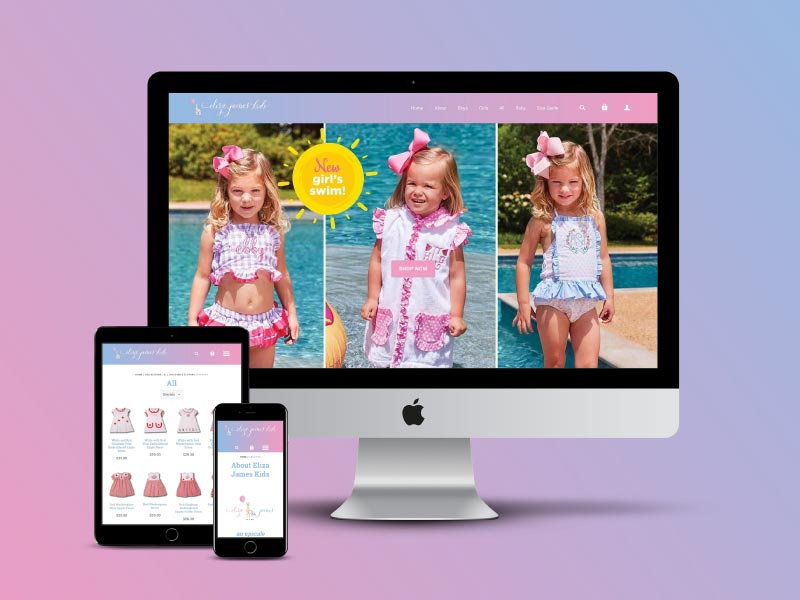 Eliza James Kids Website Design by Bailes + Zindler